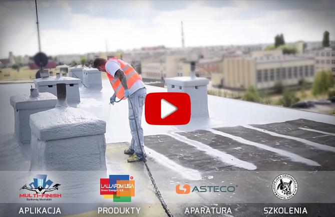 hydroizolacja dachu sylikonową powłoką LALLAFOM USA